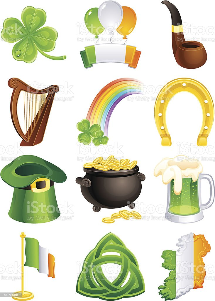 St.Patrick's icon royalty-free stock vector art