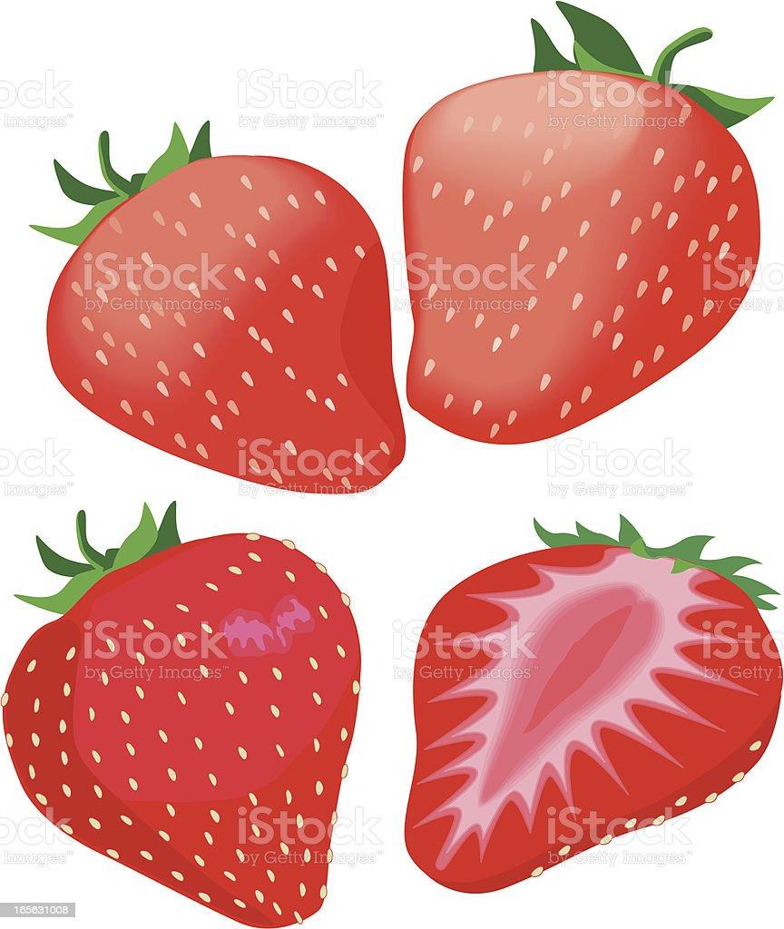 strawberries royalty-free stock vector art