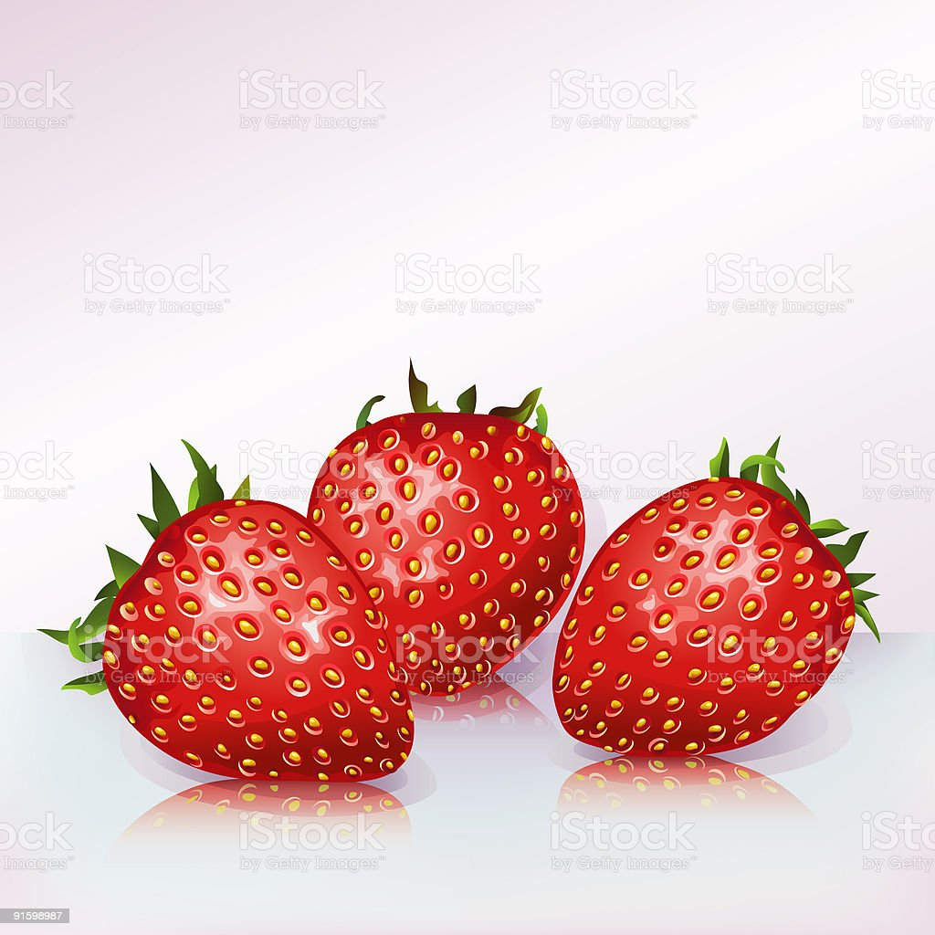Strawberries royalty-free stock vector art