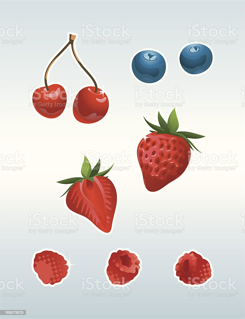 Strawberry Surprise vector art illustration