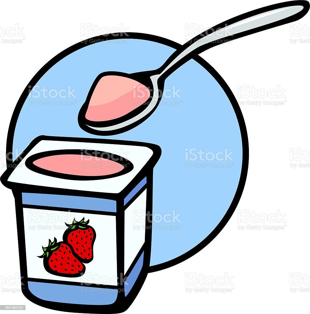 strawberry yogurt royalty-free stock vector art