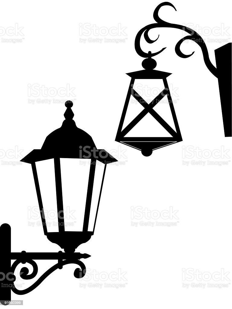 Street ancient lanterns royalty-free stock vector art