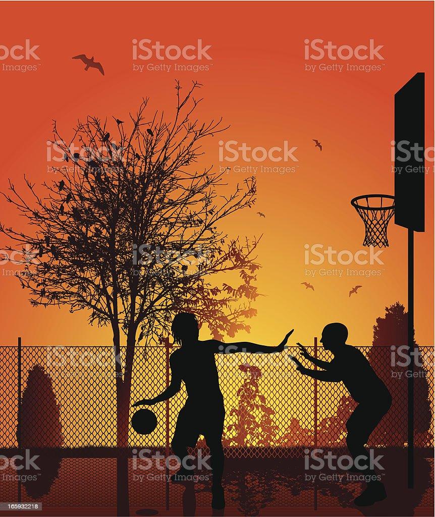 Street Basketball vector art illustration