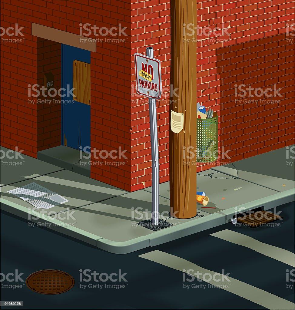 Street corner royalty-free stock vector art