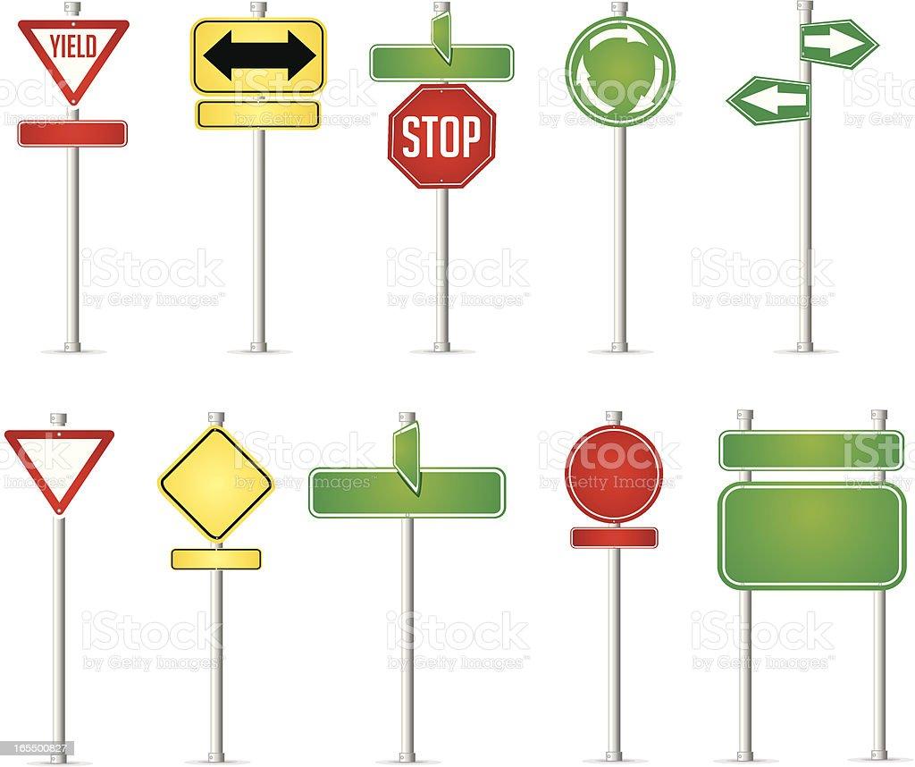 Street Sign Assortment royalty-free stock vector art