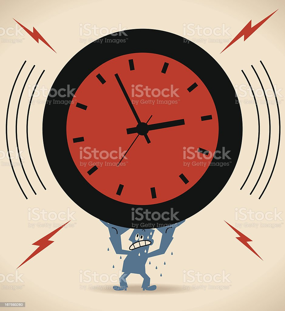 Stress and time pressure vector art illustration
