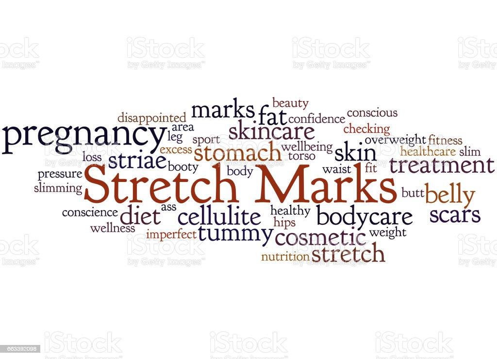 Stretch Marks, word cloud concept 2 vector art illustration