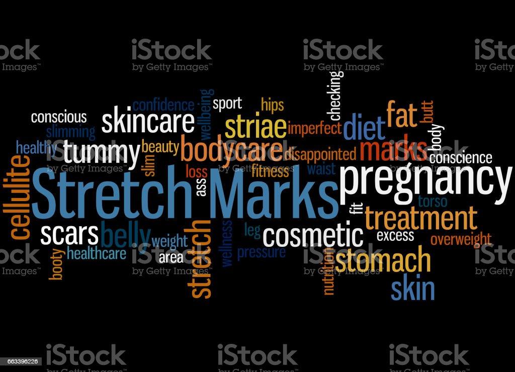 Stretch Marks, word cloud concept 5 vector art illustration