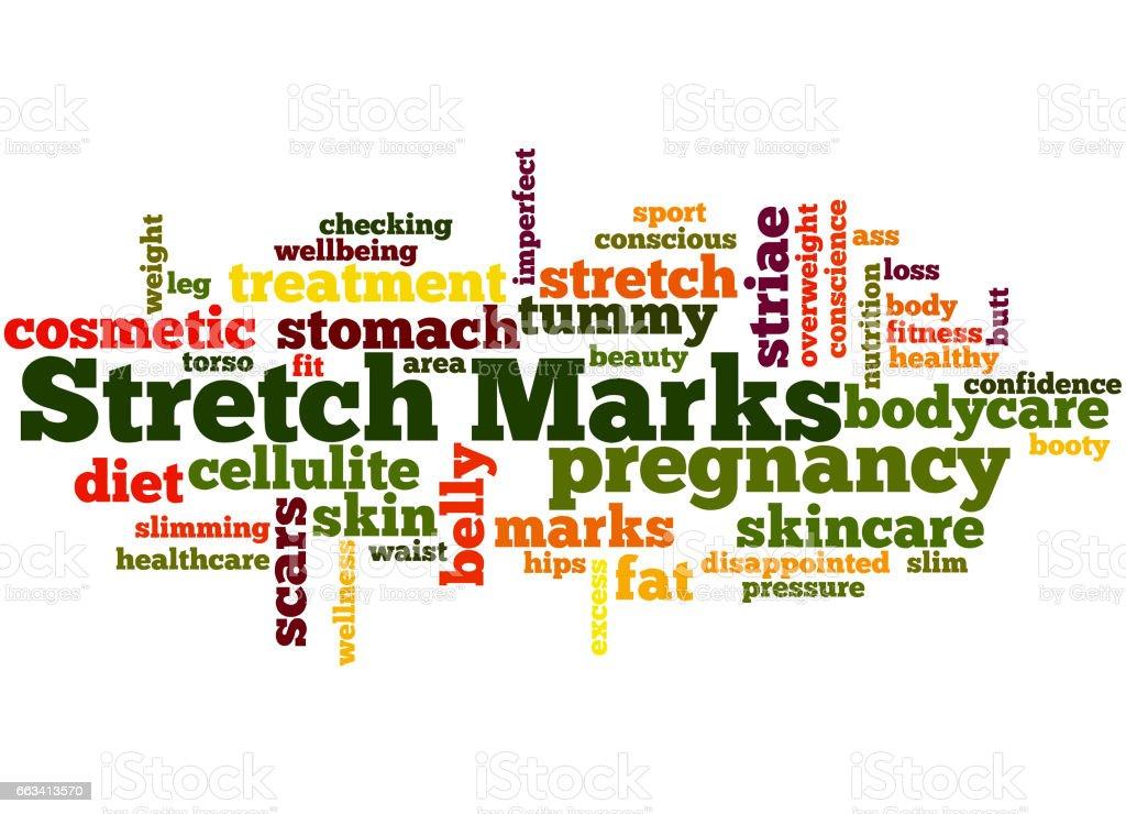 Stretch Marks, word cloud concept 6 vector art illustration