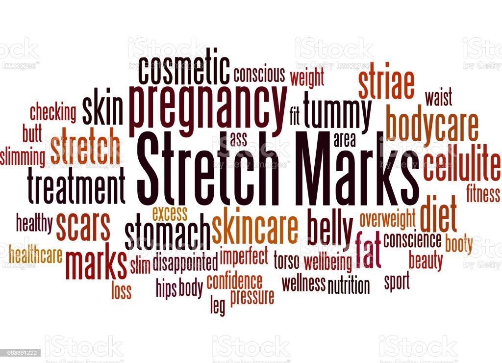 Stretch Marks, word cloud concept 9 vector art illustration