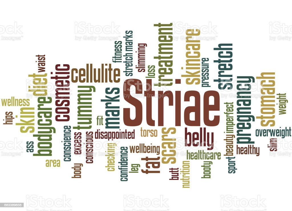 Striae, word cloud concept 4 vector art illustration