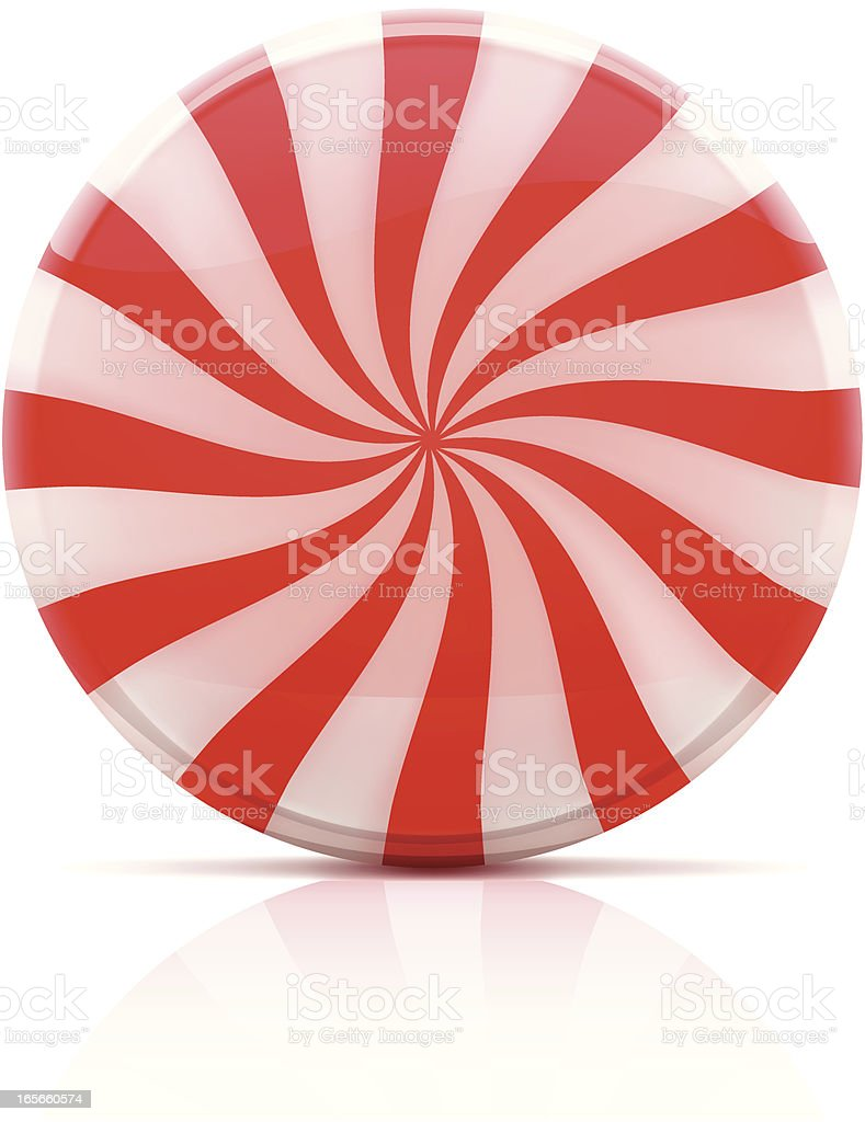 Striped candy vector art illustration