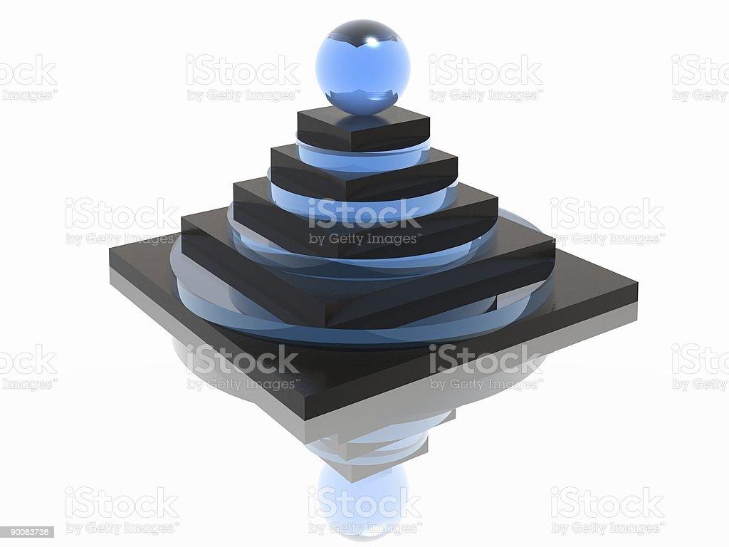 striped pyramid royalty-free stock vector art