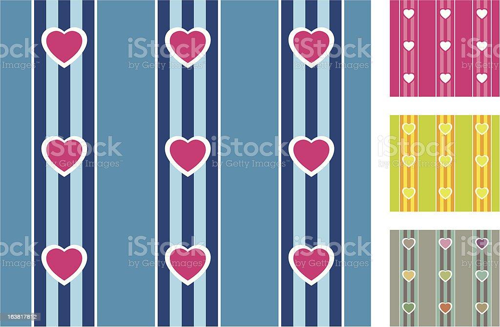 Motif sans couture coeur (rayé stock vecteur libres de droits libre de droits