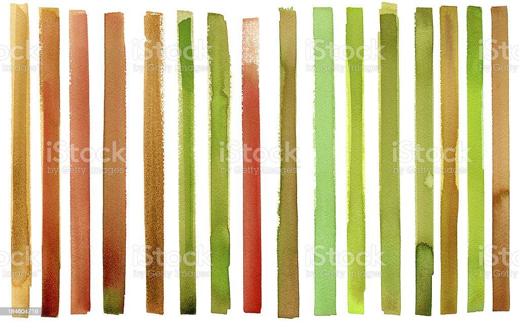Stripy watercolour royalty-free stock vector art