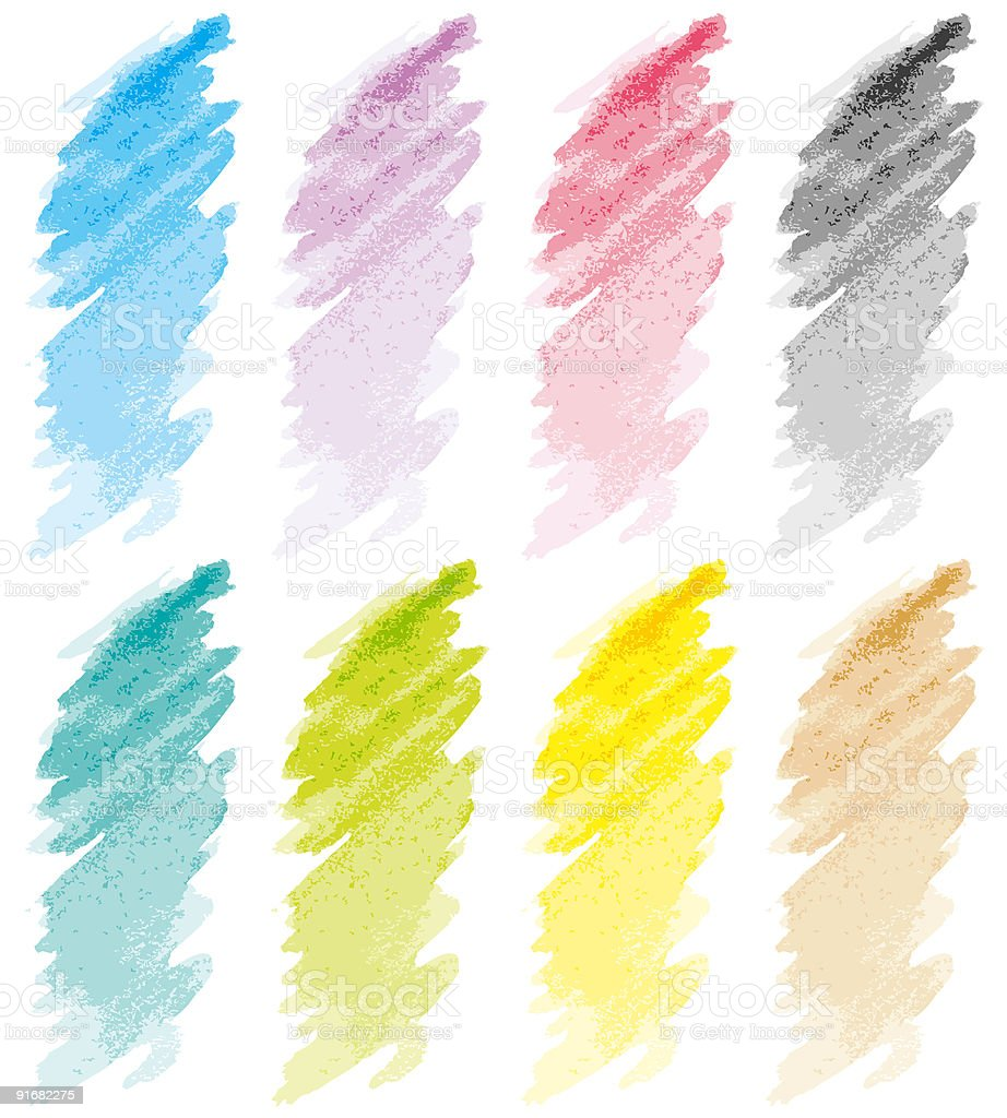 Strokes set pastel royalty-free stock vector art