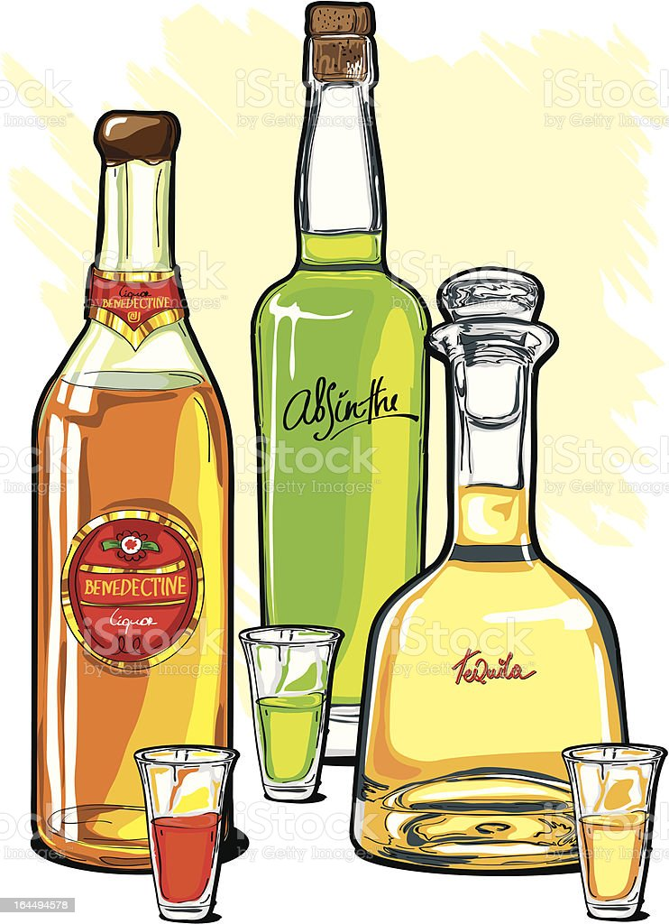 Strong Alcohol royalty-free stock vector art