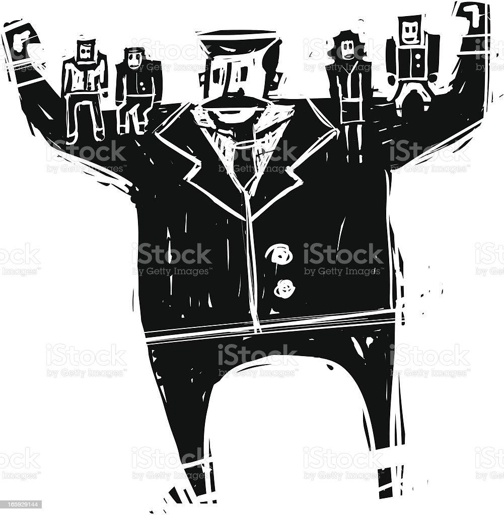 Strong Boss royalty-free stock vector art