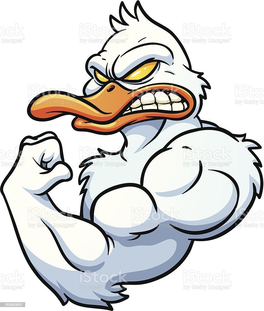 Strong duck stock vector art 163920057 istock for Illustration minimaliste