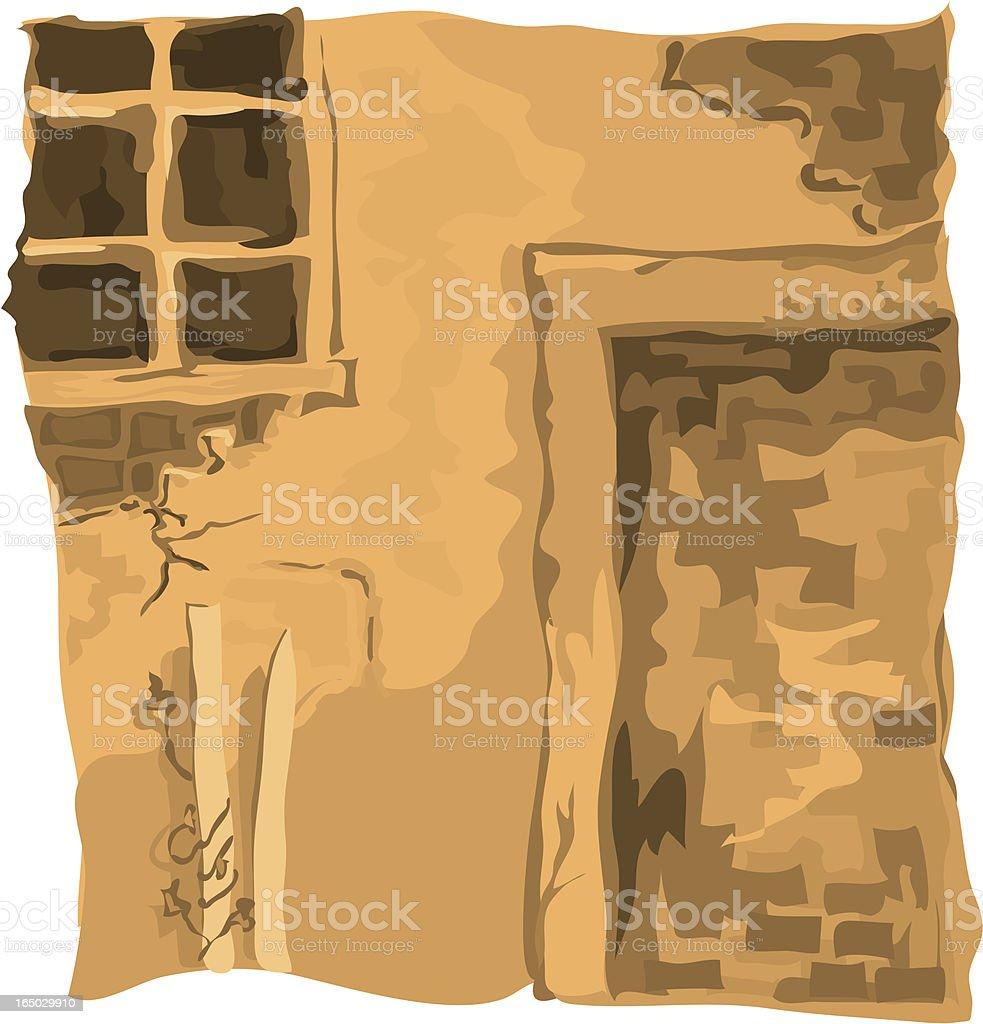Stucco Wall vector art illustration