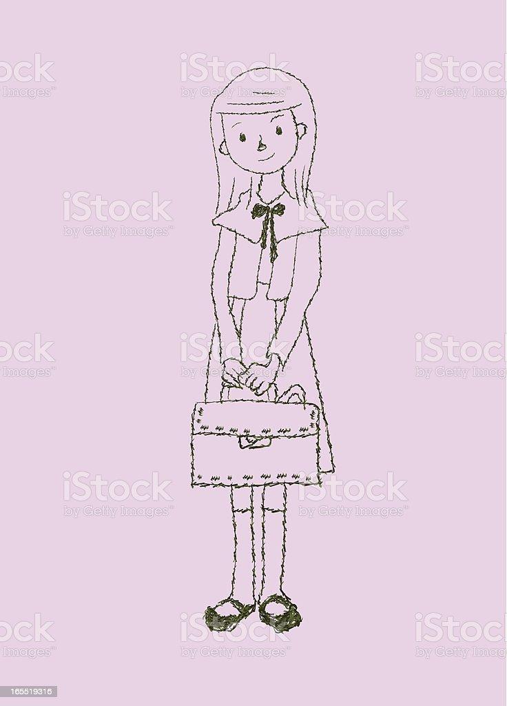 student girl royalty-free stock vector art