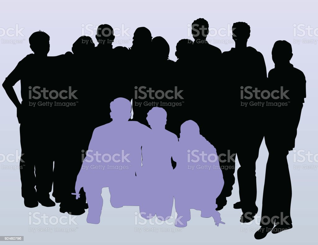 Students Posing ( Vector ) royalty-free stock vector art