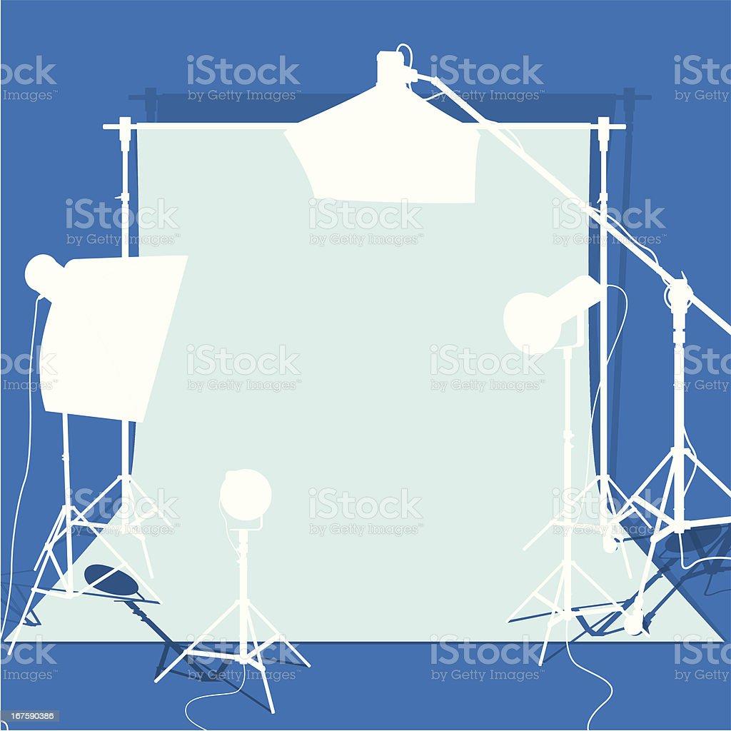 Studio set-up in Blue tone royalty-free stock vector art