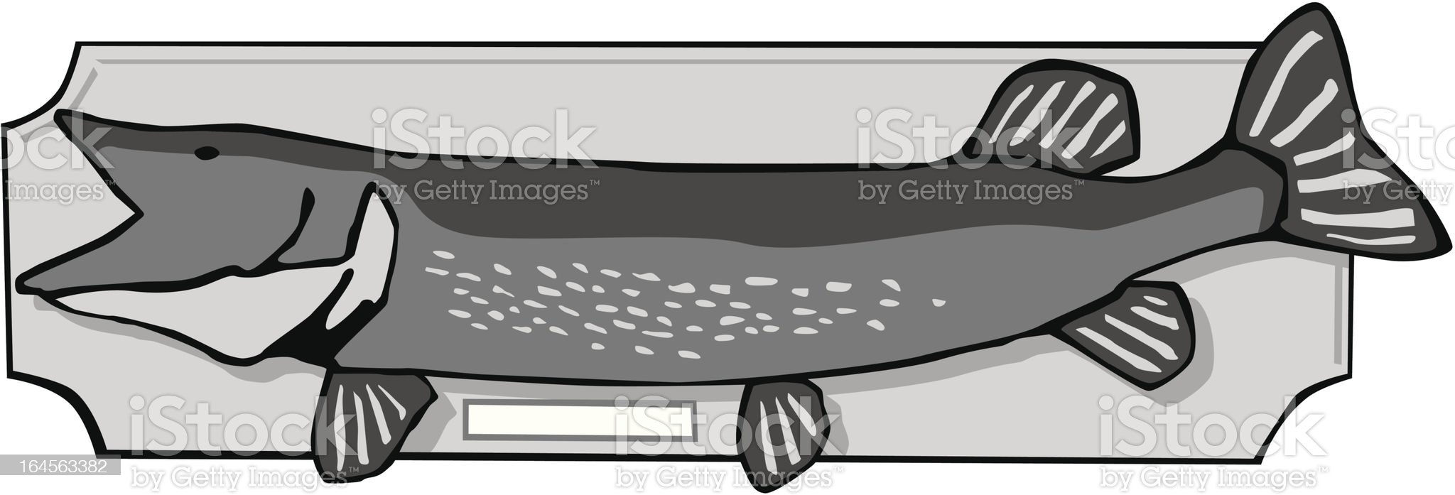 Stuffed Fish Trophy royalty-free stock vector art
