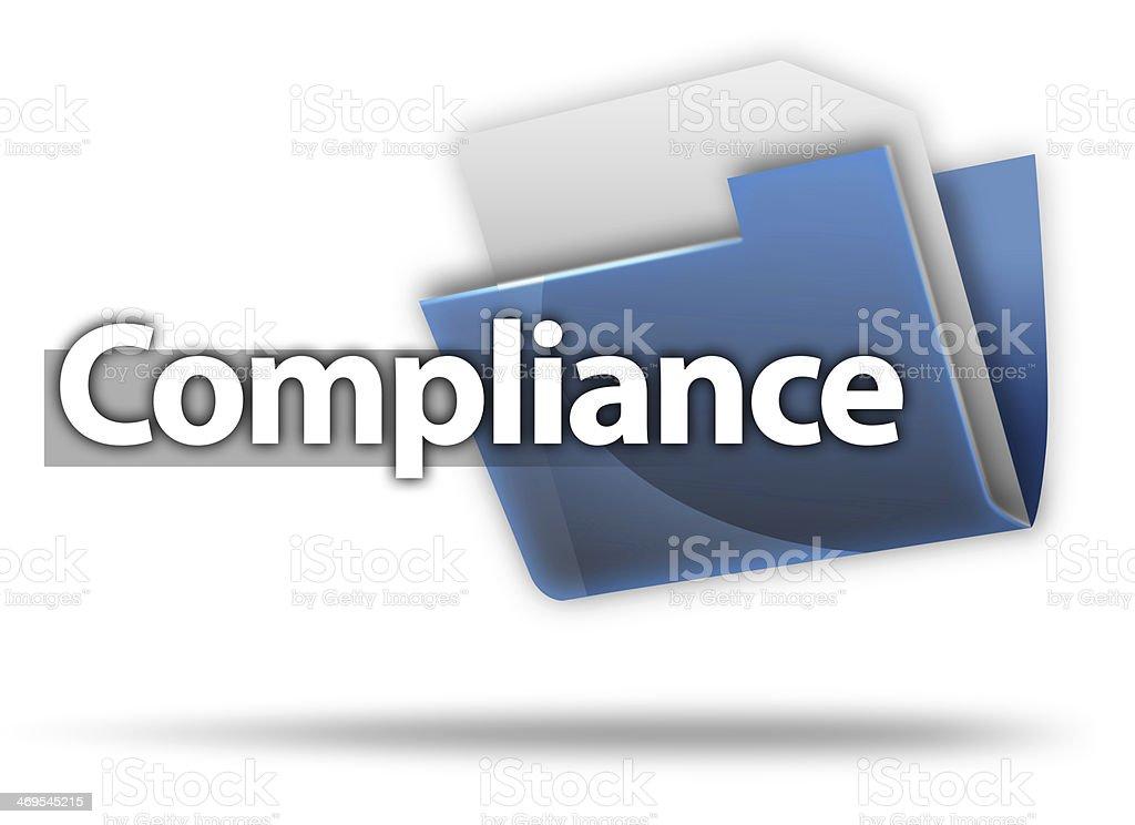 3D Style Folder Icon 'Compliance' vector art illustration