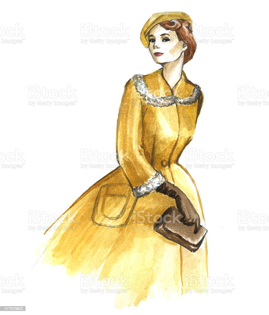 style 'new look' 1950s royalty-free stock vector art