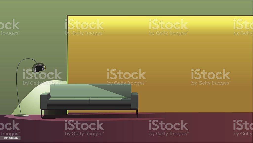 Stylish interior design royalty-free stock vector art