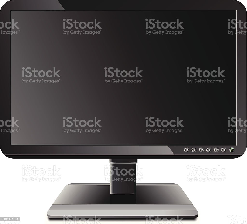 Stylish LCD monitor royalty-free stock vector art