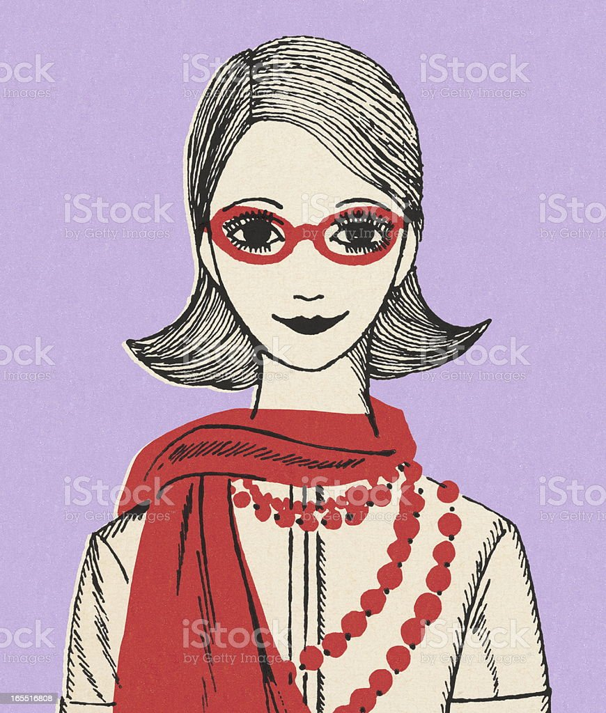 Stylish Woman royalty-free stock vector art