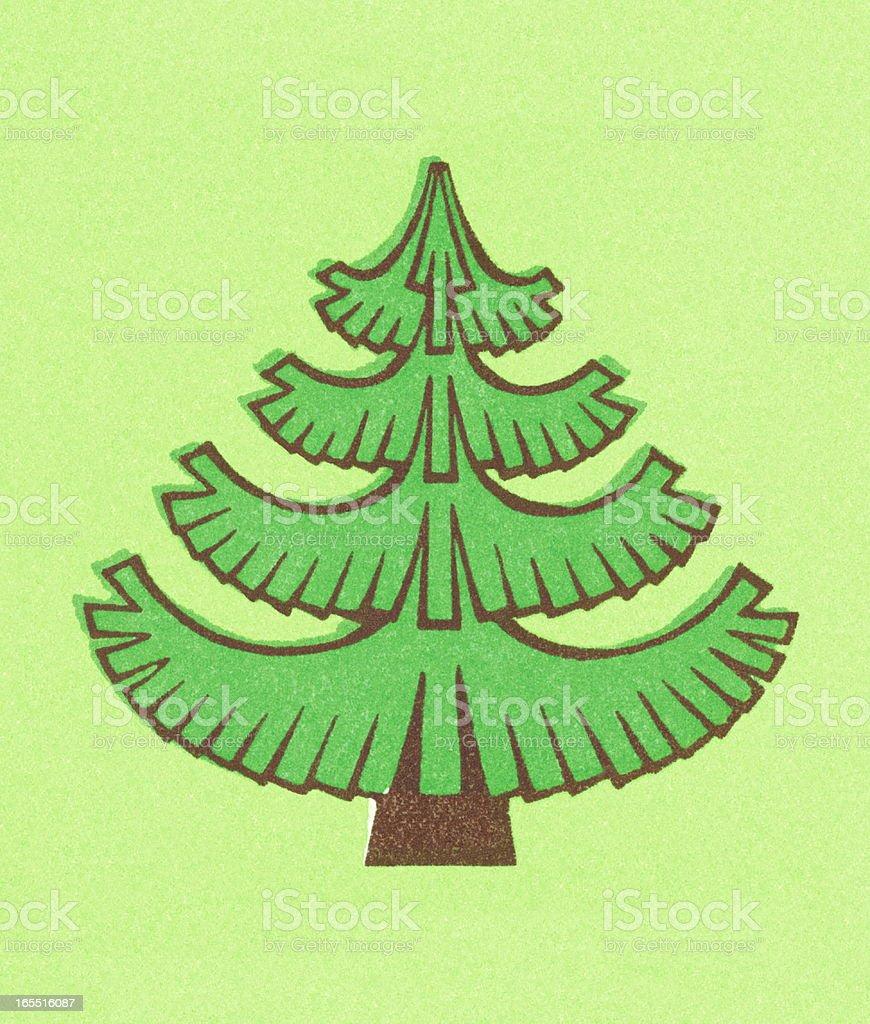 Stylized Evergreen Tree royalty-free stock vector art