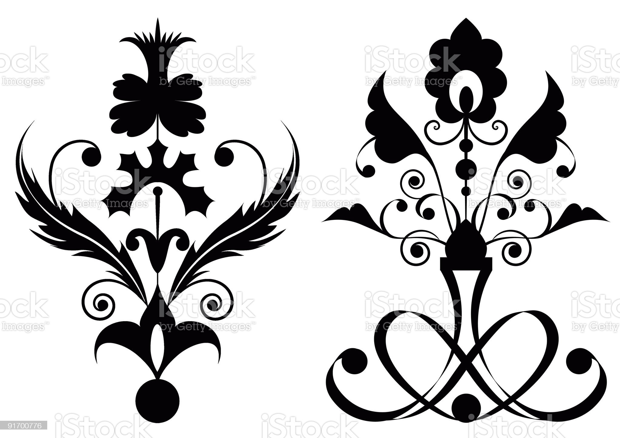 stylized flowers royalty-free stock vector art