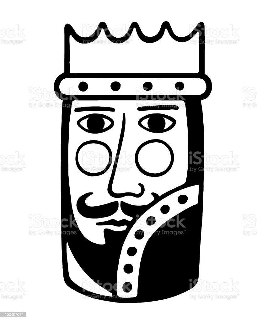 Stylized King royalty-free stock vector art
