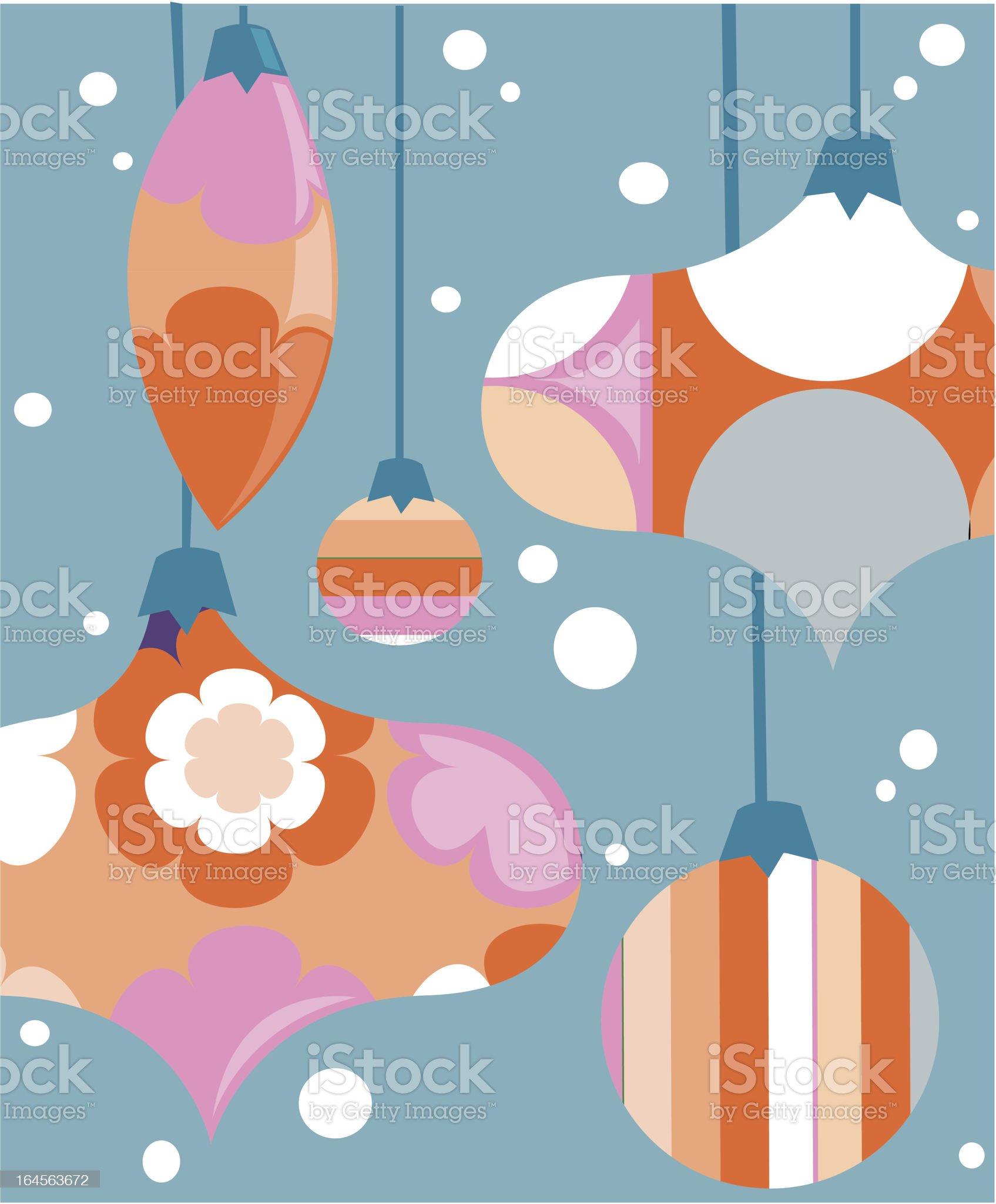 Stylized retro Christmas card design royalty-free stock vector art