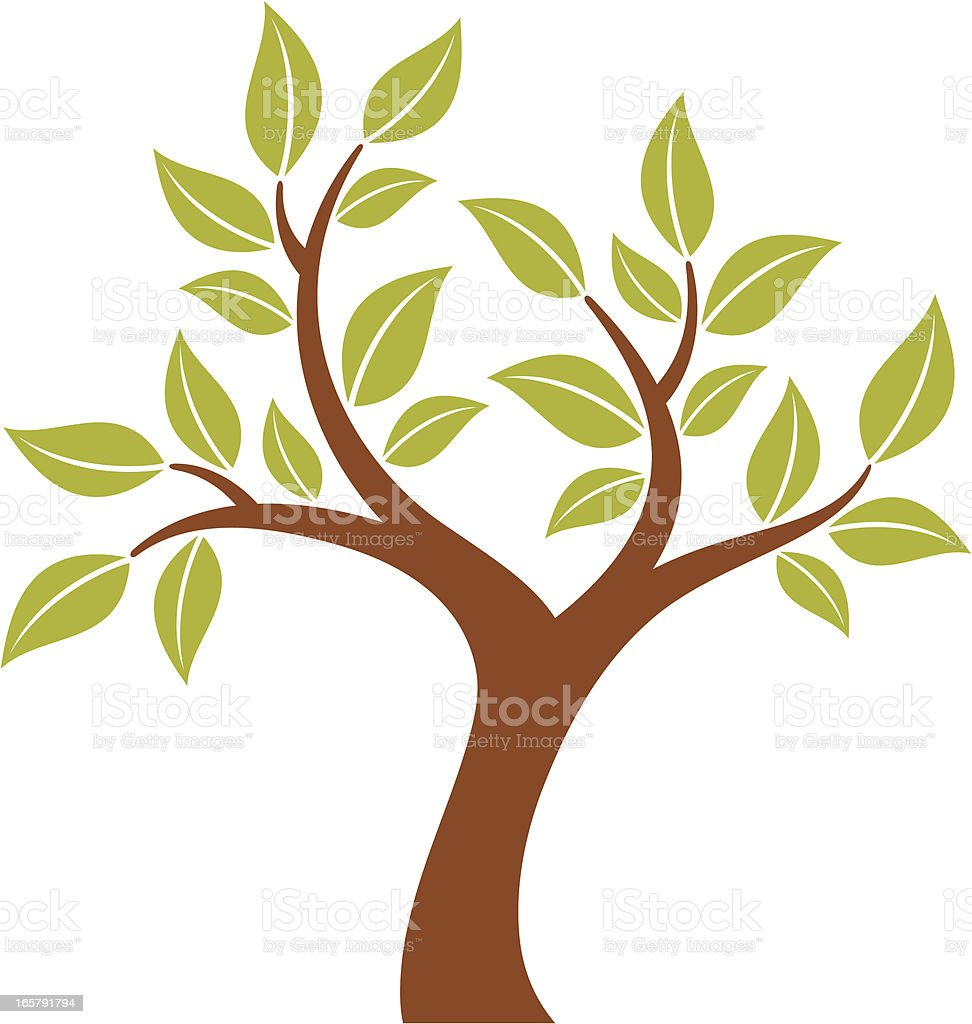 Stylized Tree royalty-free stock vector art
