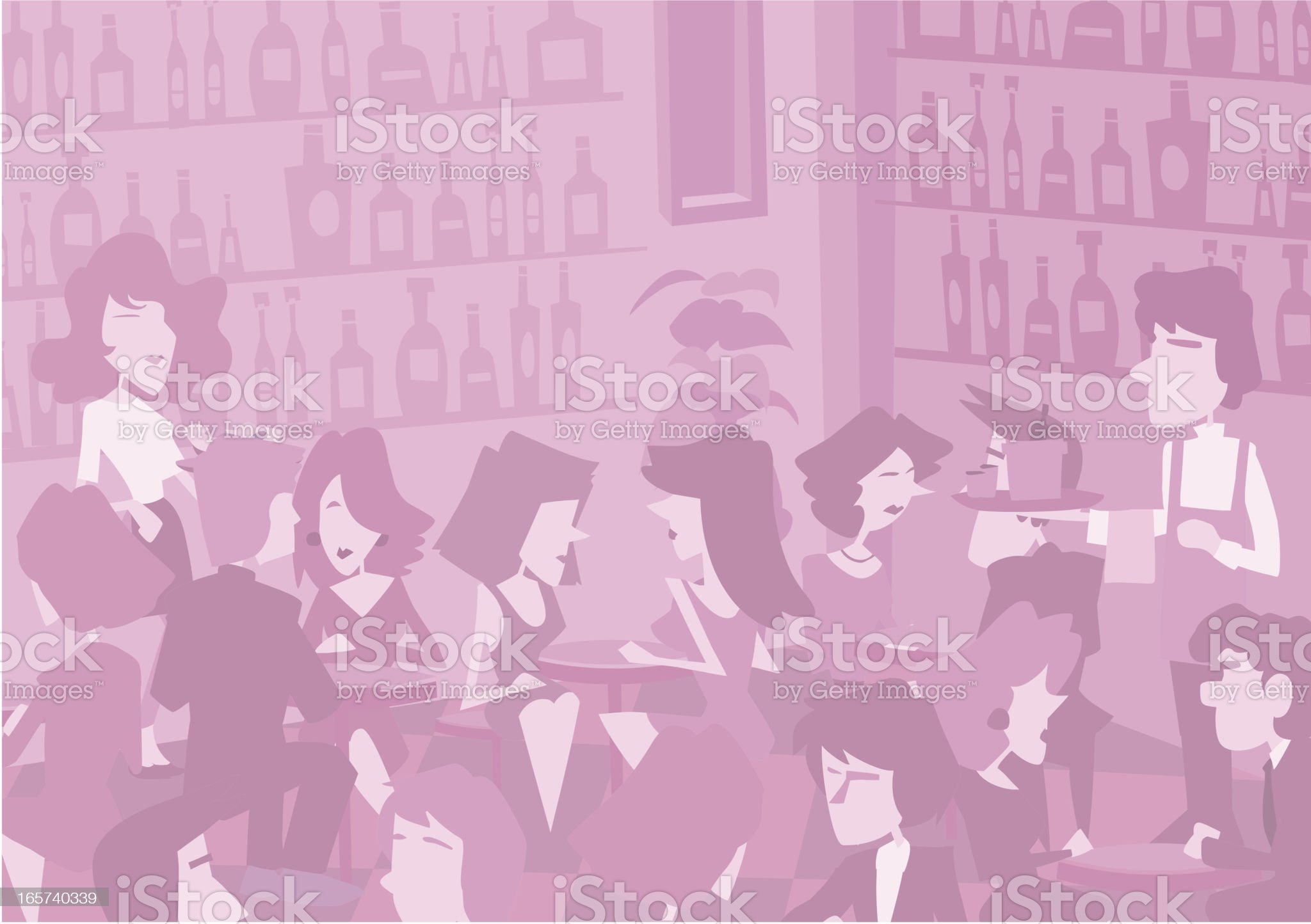 Subtle monotone bar background royalty-free stock vector art