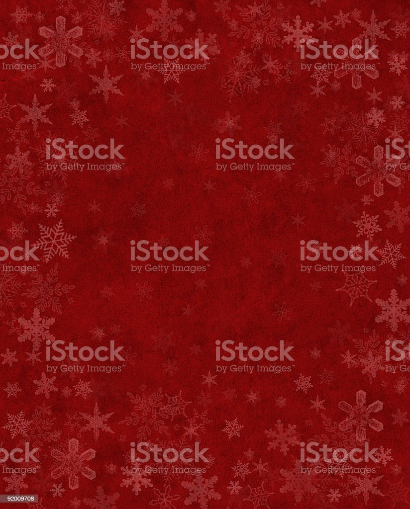 Subtle Snow on Red royalty-free stock vector art