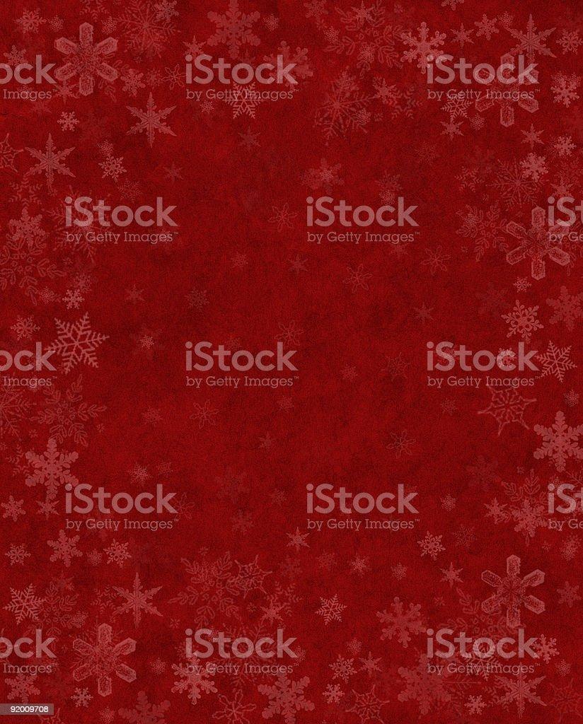 Subtle Snow on Red vector art illustration