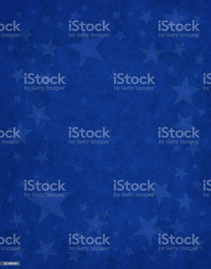 Subtle Stars on Blue vector art illustration