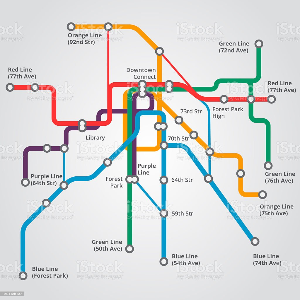 Subway convenience vector art illustration