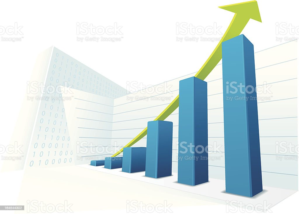 Succes business chart royalty-free stock vector art