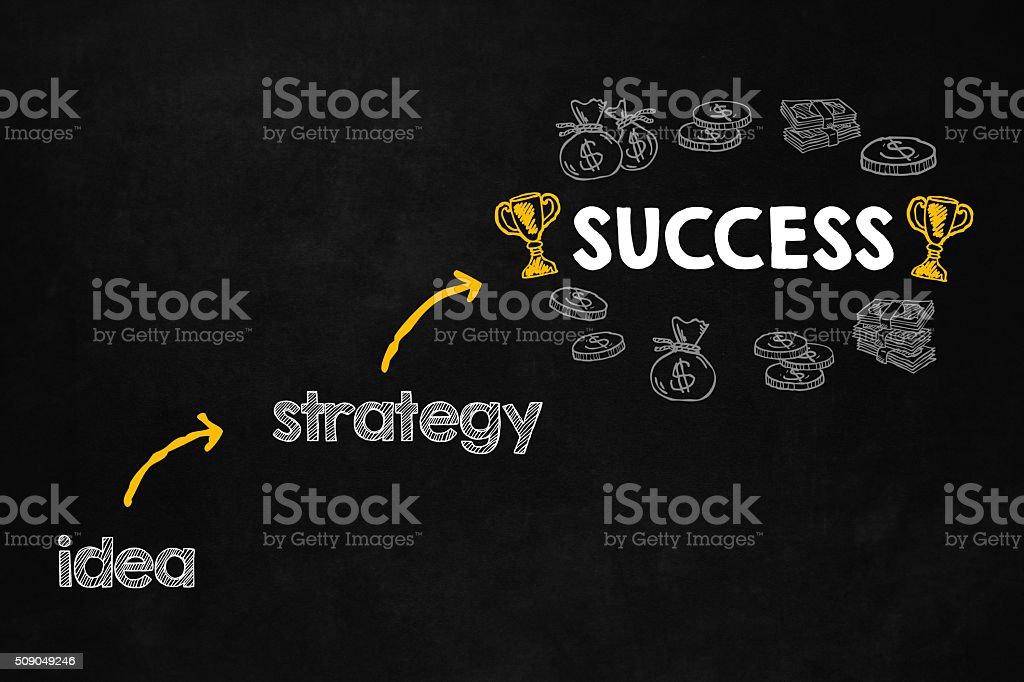 Success concept with copyspace vector art illustration