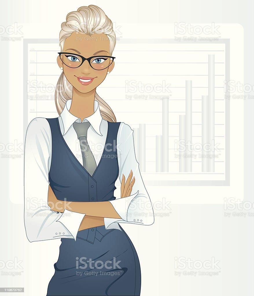 Success (blonde) royalty-free stock vector art