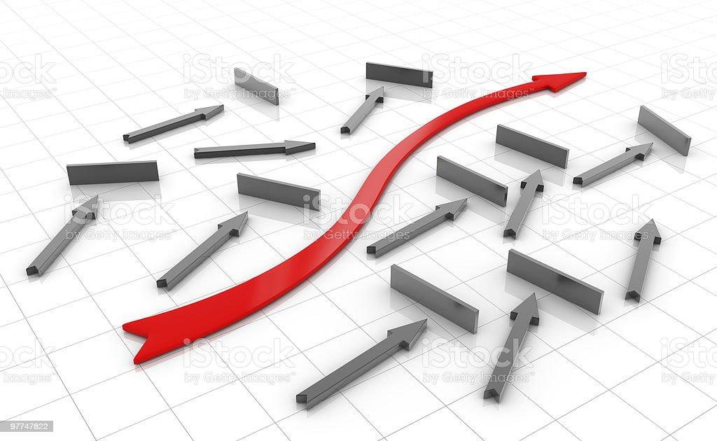 Success Red Arrow royalty-free stock vector art