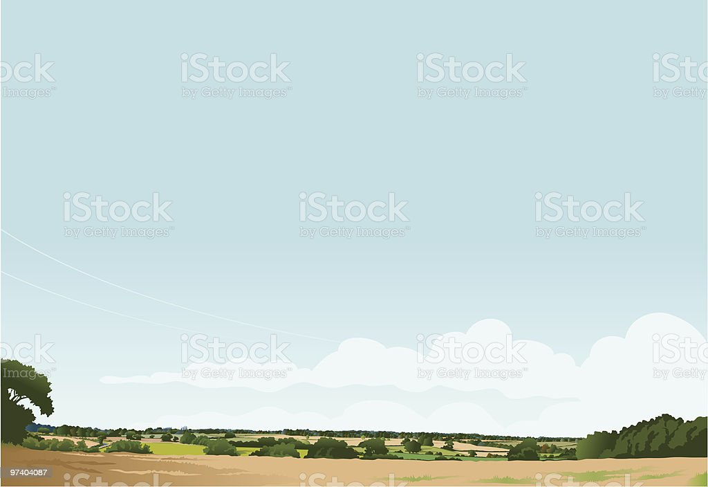 Suffolk landscape royalty-free stock vector art