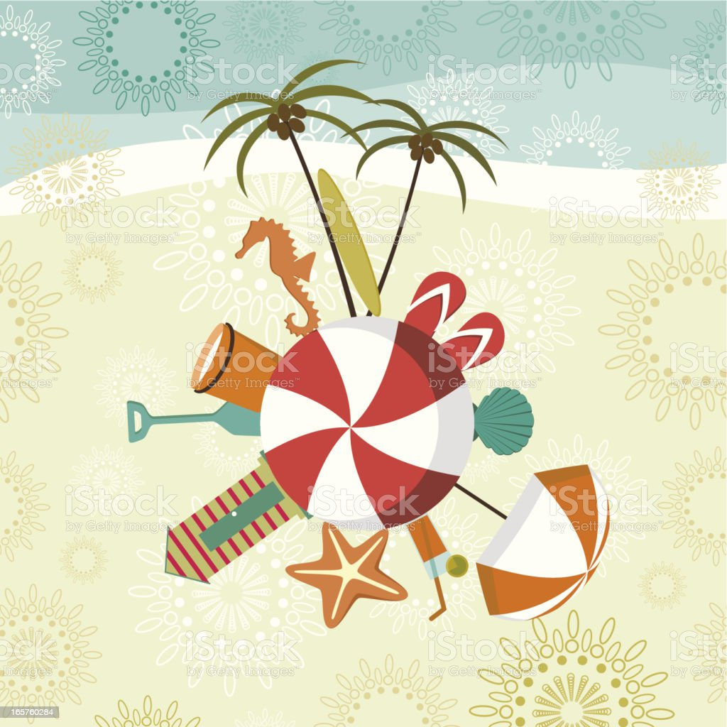 Summer and beach motifs royalty-free stock vector art