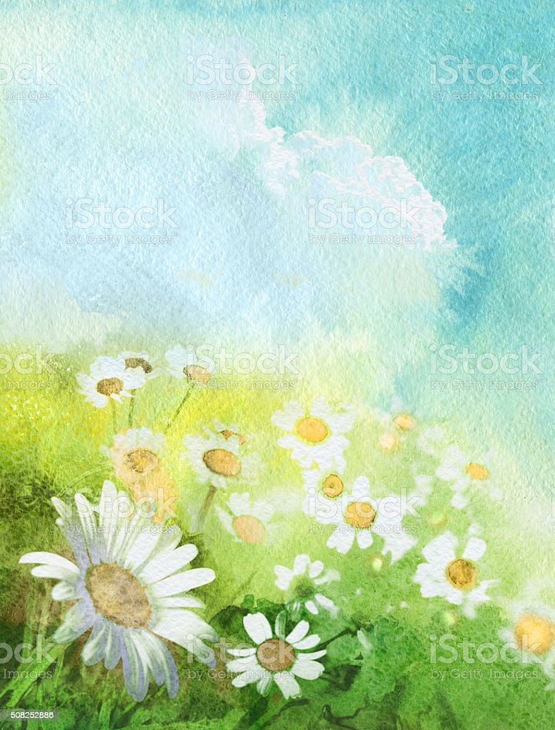 Summer art background vector art illustration